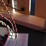 Wires from a switch in a breadboard