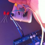 PWM via a transistor, LED standing in for motor