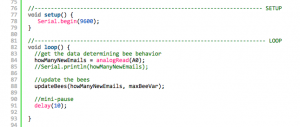 Screen shot of a render of example code using SyntaxHighlighter and my Plugin